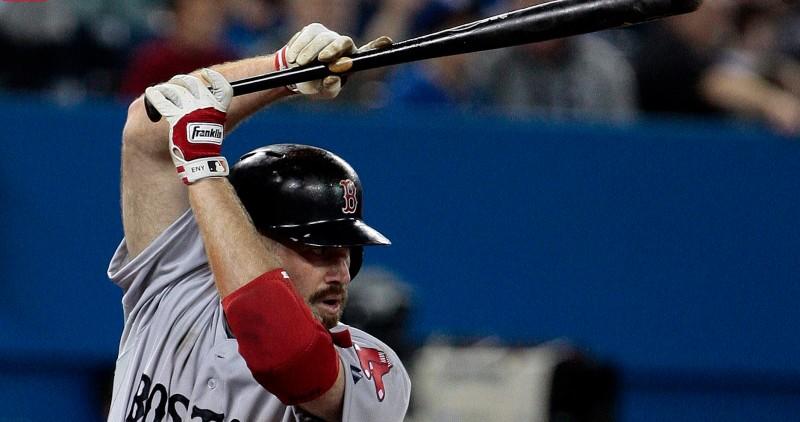 Kevin Youkilis at bat